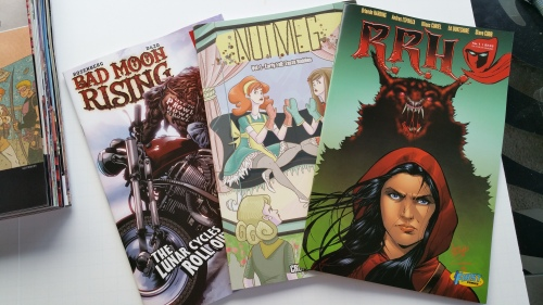 RRH #1 (1First Comics), Nutmeg, Vol. 1 (Action Lab), & Bad Moon Rising (451 Media)