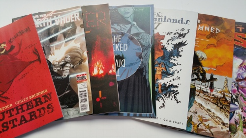 Final seven for 11.11.15 is--- Southern Bastards #12, Darth Vader #012, Drifter #09, The Wicked + The Divine #16, The Autumnlands #7,  The Goddamned, Issue One, & Secret Wars #7